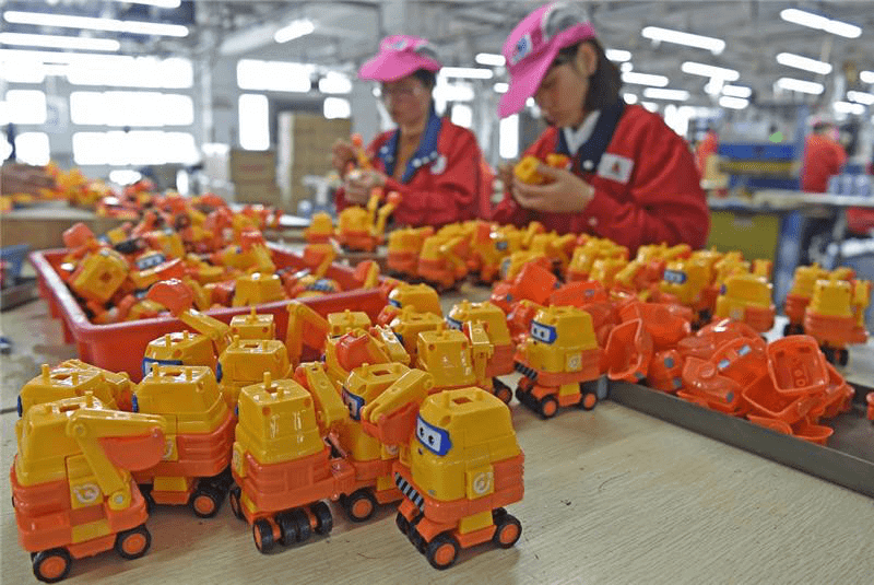 Manufacturing toys