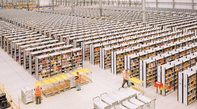 Storing products in Amazon warehouse